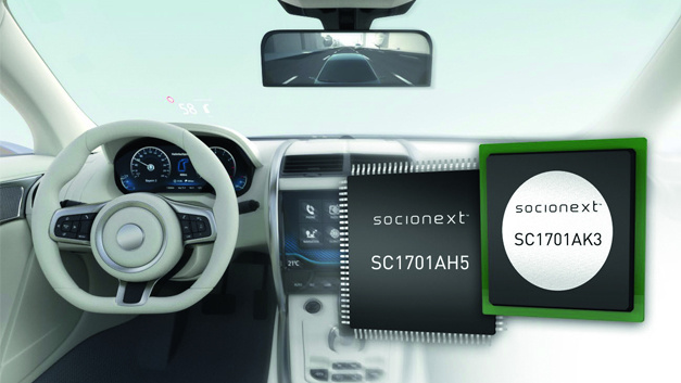 High-performance graphics display controller SC1701.