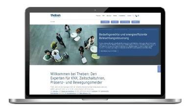 Theben Unternehmenswebseite