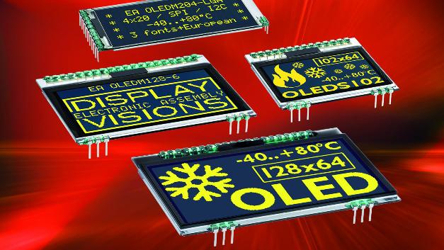 Einblickwinkel von bis zu 170 Grad, ein Konstrast von 2000:1 und Reaktionszeiten von 10 µs zeichnen die OLED-Displays aus.