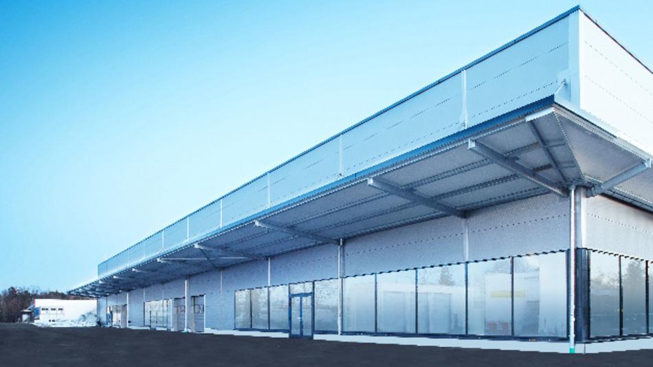 Außenansicht des neuen BMW Kompetenzzentrums in Oberschleißheim.