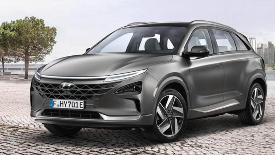 Das neue Brennstoffzellenfahrzeug Hyundai Nexo wird ab August auch in Deutschland verfügbar sein.