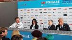 Der ePrix in Rom wurde mit einer Pressekonferenz eröffnet: Alejandro Agag, Virginia Raggi, Bürgermeisterin von Rom und FIA-Präsident Jean Todt stehen der Presse Rede und Antwort.