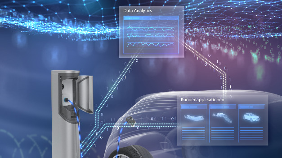 Ein Beispiel für den Einsatz der Schlüsseltechnologie LEONiQ ist die Ladeinfrastruktur für Elektro- und Plug-in-Hybrid-Fahrzeuge. Leoni stellt die neue Technologie auf der Hannover Messe 2018 vor.