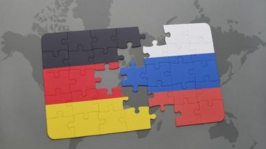 Flagge Deutschland, Russland
