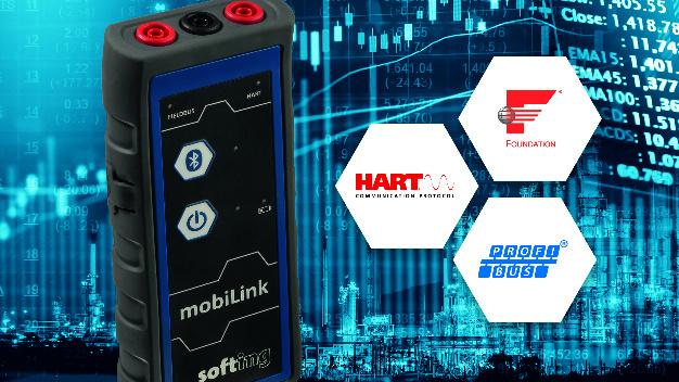 Softings mobiLink ist ein mobiles Multiprotokoll-Interface zur Inbetriebnahme und Wartung von Feldgeräten.