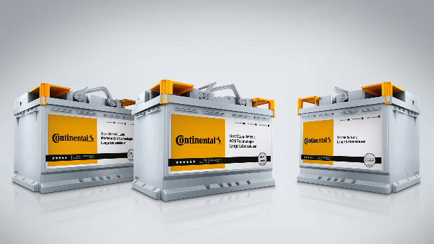 Unter der Marke Continental bietet das Unternehmen künftig unterschiedliche Starter- sowie Start-Stopp-Batterien an.