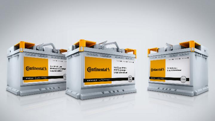 Starter- und Start-Stopp-Batterien von Continental