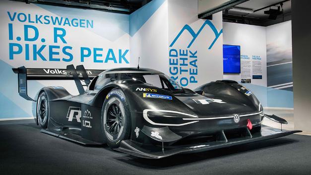 Der Volkswagen I.D. R Pikes Peak für das diesjährige Bergrennen in Amerika.