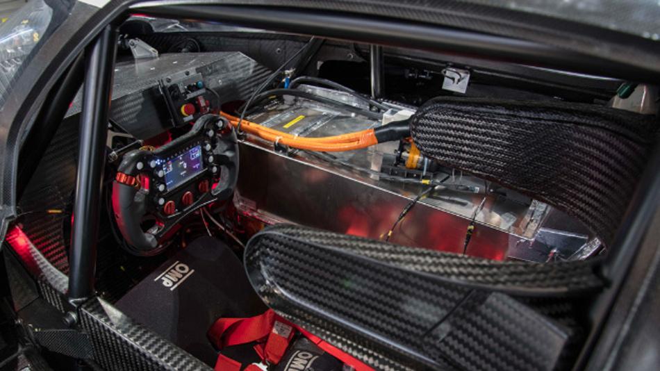 Das Cockpit des Volkswagen I.D. R Pikes Peak.