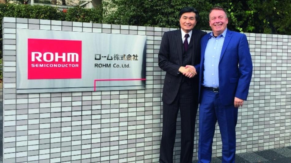 Bild 1: Rohms Präsident und CEO Satoshi Sawamura empfing DESIGN&ELEKTRONIK-Chefredakteur Frank Riemenschneider in Rohms Firmenzentrale im japanischen Kyoto.