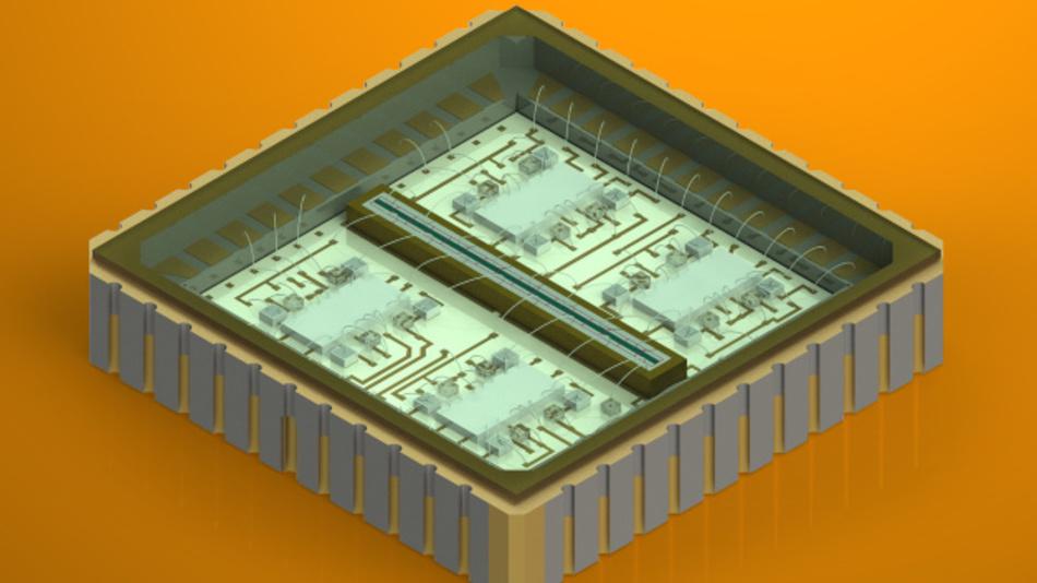 Lineares Avalanche-Fotodioden-Array für LiDAR-Messungen.