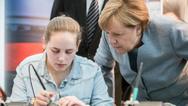 Kanzlerin Merkel beim Girls' Day 2017