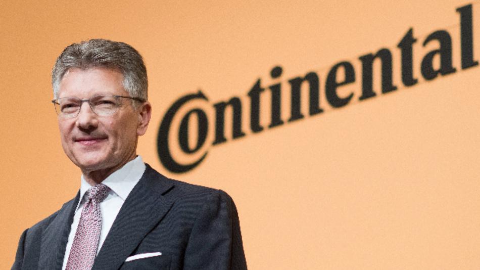 Elmar Degenhart, Vorstandsvorsitzender der Continental AG, bei der Hauptversammlung im Hannover Congress Centrum (HCC).