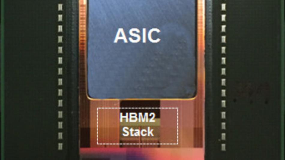 Die Kombination von ASICs und HBM2-Stacks plus Interposer in einem 2.5D-Gehäuse. Damit will eSicilon einerseits Raum für Differenzierungen auf dem Gebiet der lernfähigen Chips schaffen und andererseits hochleistungsfähige sowie kostengünstige Alternativen zu Standard-ICs bieten.