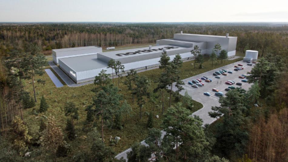 Außenansicht des künftigen Forschungszentrums »Northvolt Labs« von Northvolt.