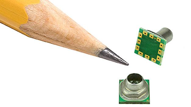 Bild 1. Der Drucksensor MicroPressure für die Leiterplatte benötigt nur 5 x 5 mm Platz.