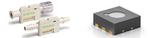 Durchflussmesser zur Überwachung sehr kleiner Medikamenten-Dosierungen (links). Rechts ein langzeitstabiler Umweltsensor für batteriebetriebene Anwendungen