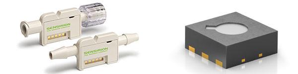 Bild 3. Durchflussmesser zur Überwachung sehr kleiner Medikamenten-Dosierungen (links). Rechts ein langzeitstabiler Umweltsensor für batteriebetriebene Anwendungen.
