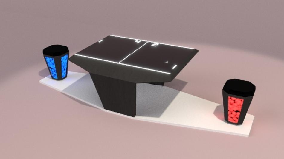 Der LED-Sitzhocker unterstützt gesundes Sitzen. Auf der MS Wissenschaft können Besucher damit sogar Bewegungsspiele steuern.
