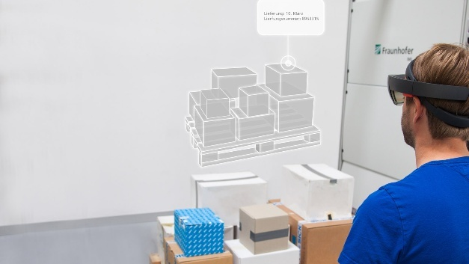 Digitale Assistenten erleichtern dem Mitarbeiter das Packen und Bestücken der Paletten.