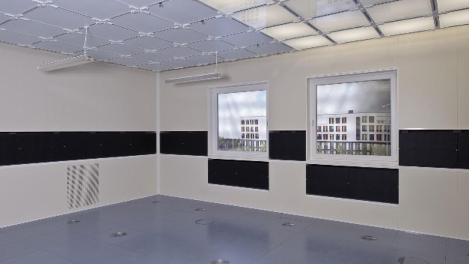 Das Raumlabor für ganzheitliche Wirkungsforschung (High Performance Indoor Environmental Lab) am Fraunhofer-Institut für Bauphysik IBP in Stuttgart.