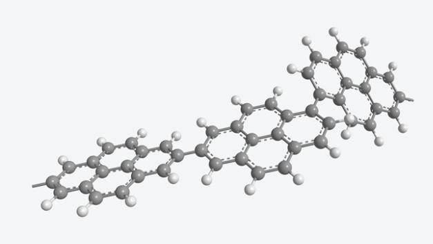 Molekülstrukur von Polypyren.