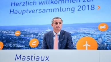 Frank Mastiaux, Vorstandsvorsitzender des Energiekonzerns EnBW, auf der Hauptversammlung des Energiekonzerns EnBW