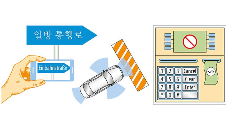 Bild 1. Beispiele für die Anwendung von Deep Learning: Autonomes Fahren, Apps zur Simultanübersetzung oder die Erkennung von Falschgeld in einem Geldautomaten.