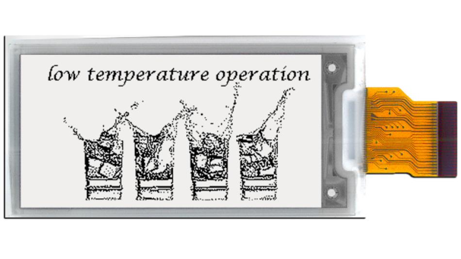 Für den Einsatz als Etikett im Kühllager geeignet: Das E-Paper E2213HS091 arbeitet bei Temperaturen bis -25 °C.