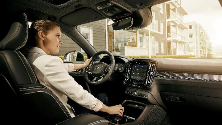 Infotainment System im Fahrzeug von Volvo