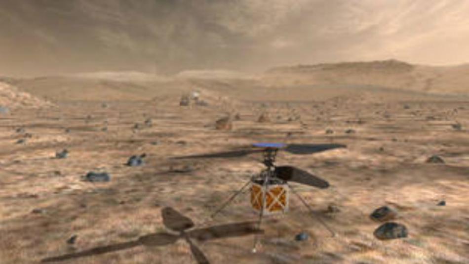 »Marscopter« in kommenden Unternehmen einsetzen zu können, wäre sehr hilfreich, weil sie sehen, was hinter dem nächsten Berg liegt und nach lohnenden Zielen und den besten Wegen dorthin Ausschau halten könnten.