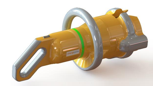 Ansicht des Steckverbinder-Konzepts für die Hochleistungsladung von Chargepoint.