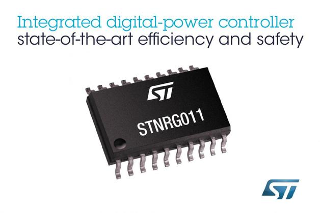 STMicroelectronics: Hochintegrierter Digital-Power Controller (Halle 9/ Stand 429)