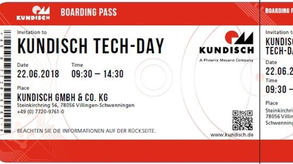 Am 22. Juni 2018 findet der Tech-Day in Villingen-Schwenningen bei der Kundisch GmbH & Co. KG statt