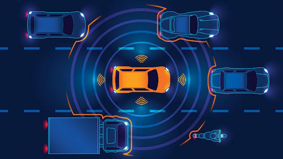 Bild 2. Zahlreiche Sensoren informieren das autonome Kraftfahrzeug über die Fahrzeugumgebung.