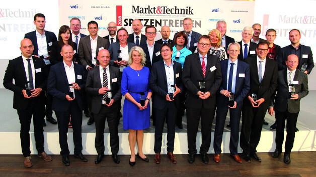 Das sind die »Manager des Jahres 2018«, die während des 4. Markt&Technik-Spitzentreffens ihre Preise entgegengenommen haben.