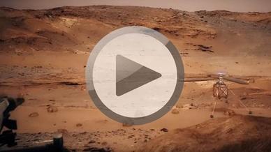 Helikopter auf dem Mars