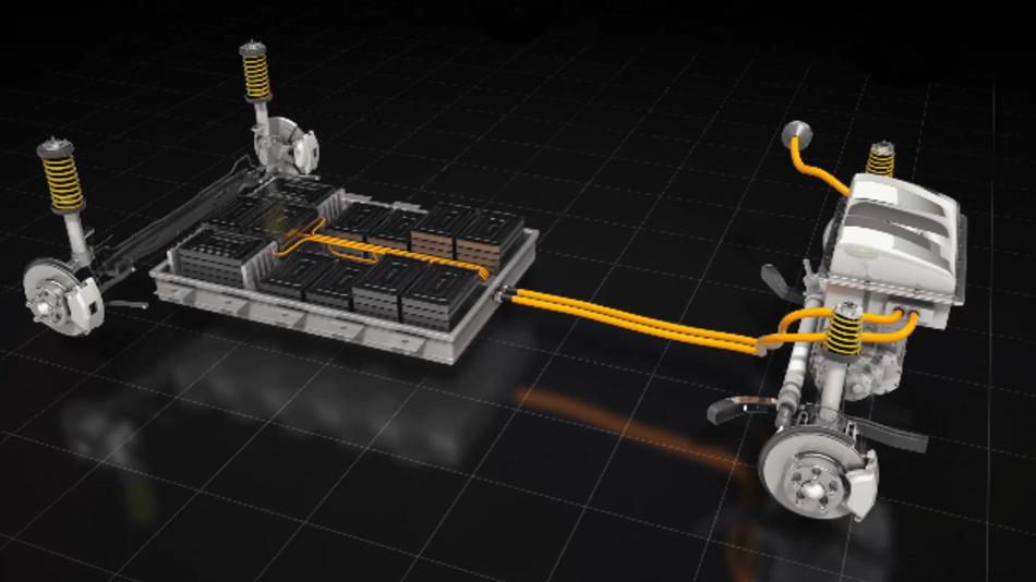 Batteriekonzept von StoreDot für ein Elektrofahrzeug.