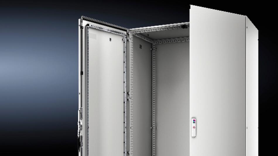 Das Rahmenprofil des neuen Großschranksystems VX25 von Rittal verfügt über ein durchgängiges 25-mm-Maßraster.