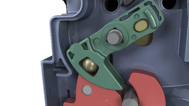 Die Türverriegelung Comfort+ nutzt die Rollreibung, um den Kraftaufwand bei Türbewegungen zu reduzieren.