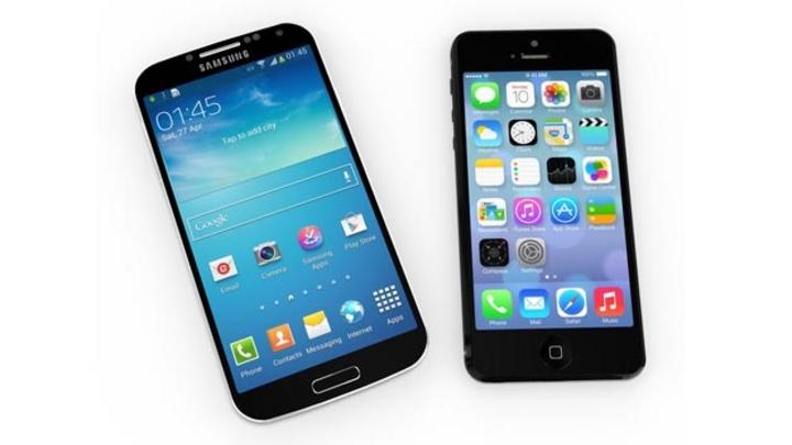 Samsung Galaxy S und iPhone 5.