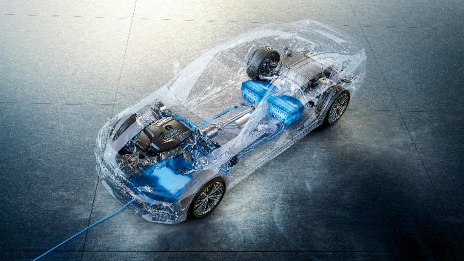 BMW Wireless Charging ermöglicht eine kabellose Übertragung von Energie aus dem Stromnetz in die Hochvoltbatterie des Fahrzeugs.