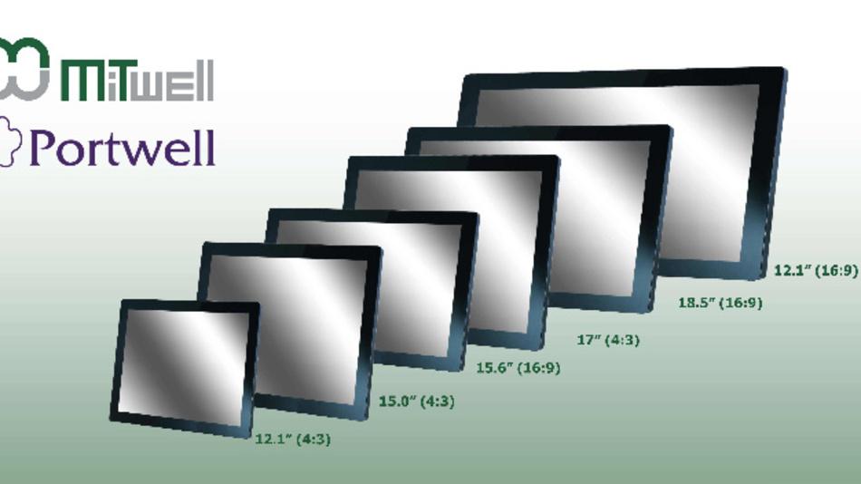 Mitwells gemäß IP65 geschützte Industrie-Monitore der MD-Reihe haben Auflösungen von bis zu 1920 x 1080 Pixel.