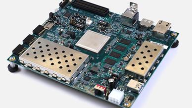 Die erste Positionierung für den Xilinx Zynq UltraScale+ MPSoC demonstrierte Lynx während der Arm TechCon  2017.