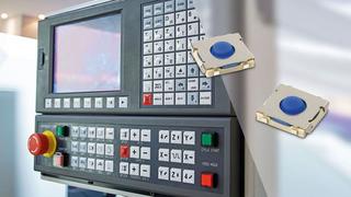 Die mechanischen Taster B3SE begnügen sich mit einer Bauhöhe von 2 mm und eignen sich dennoch für Industrie-Applikationen.