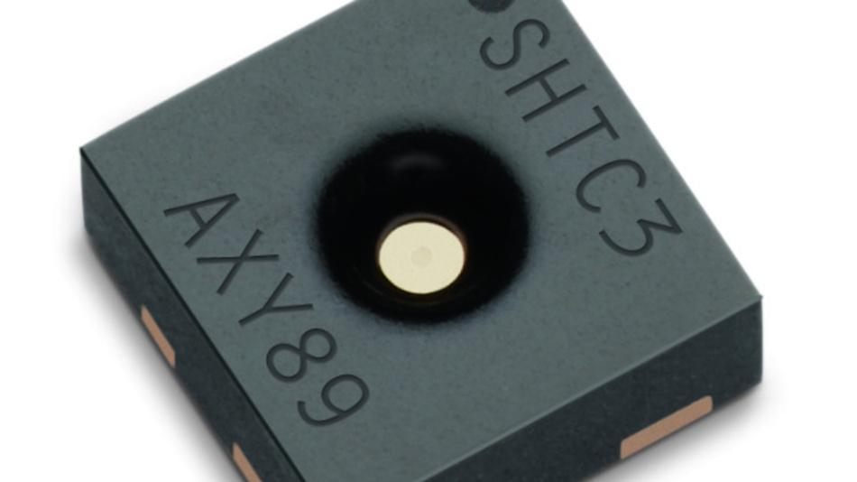 Der SHTC3 misst mit einer Genauigkeit von ±2 % RH und ±0.2 °C.
