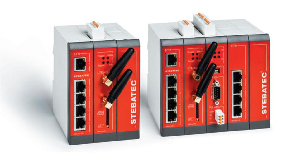 Bild 1. Der LTE-Mobilfunk-Router MRX5 (links) fungiert als Kopfstation und verteilt u.a. die Bereitschaftsdienst-Einstellungen für die Bereitschaft auf alle autonomen Unterstationen (MRX3) (rechts).