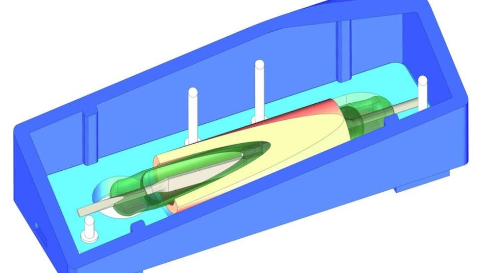 Bild 2: 3D-Bild eines geöffneten Reed-Relais.