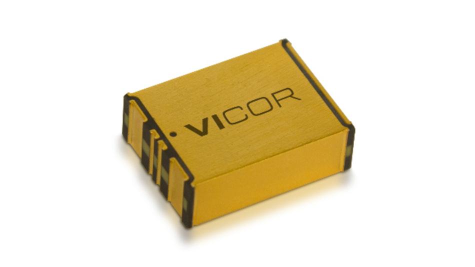 Der PoP-Wandler von Vicor eignet sich zum Umsetzen von 48 V auf 12 V und umgekehrt.