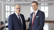 Jenoptik-Vorstand: Finanzvorstand Hans-Dieter Schumacher (links), Vorstandsvorsitzender Dr. Stefan Traeger (rechts)